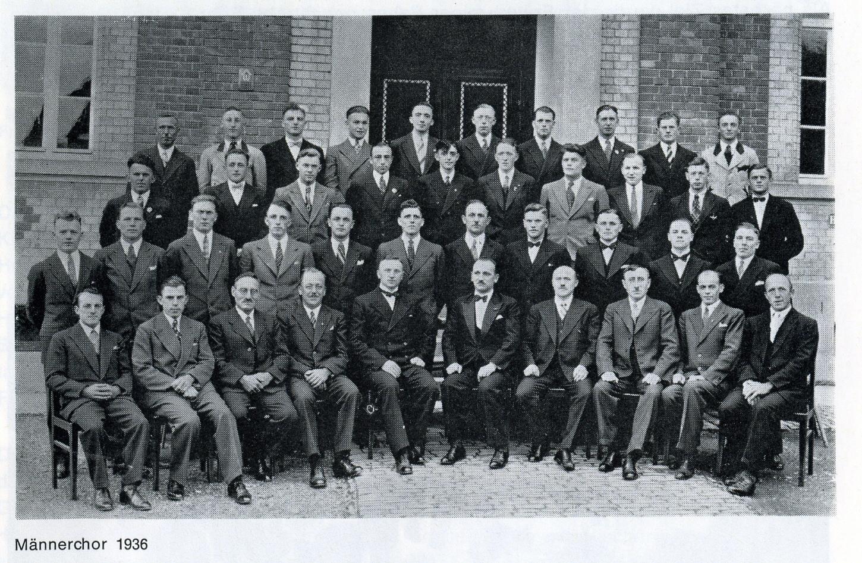 Männerchor 1936